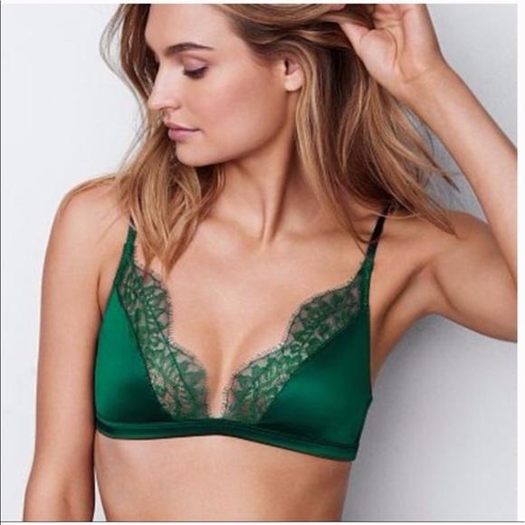 20d522bf9f Victoria s Secret Triangle Bralette Emerald Green